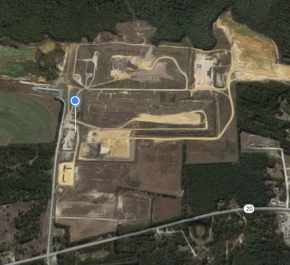 Google Earth Image of Landfill